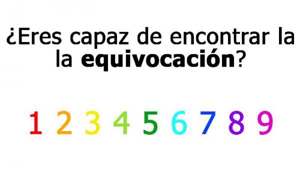 ¿Eres capaz de encontrar la equivocación?