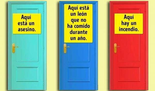 ¿Qué puerta elegirías para sobrevivir?