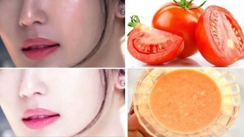 Tomate y azúcar en un día hará que tu rostro se aclare sin manchas de forma permanente