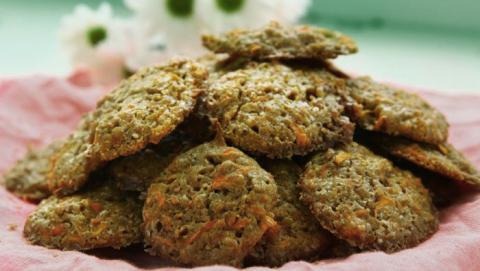 Deliciosas galletas de avena y zanahoria, ¡solo 5 ingredientes!