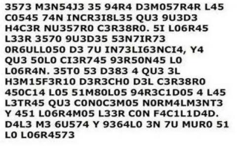 Si logras leer esto eres muy inteligente: Respuesta