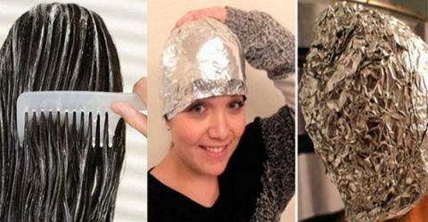 Si crees en los milagros, ponte papel de aluminio y esta mezcla antes de lavarte el pelo y mira lo que pasa
