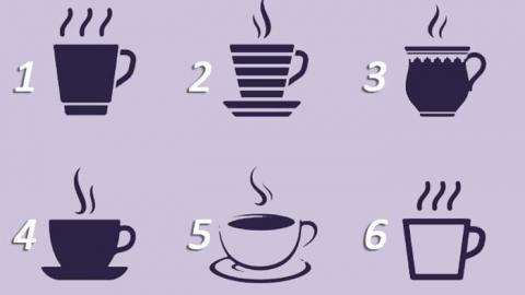Elige una de las tazas que aparece en la imagen y descubre qué dice sobre tu personalidad. ¡Te sorprenderás!