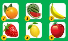 Elige una fruta y descubre aspectos importantes de tu vida y de tu personalidad