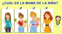 ¿Cual de las 4 mujeres es la mamá de la niña? escoge una y mira tu respuesta, conocerás aspectos importantes para tu vida