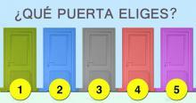 Imagínate que estás delante de estas puertas. ¿Cuál elegirías? tu elección dice mucho sobre tu personalidad