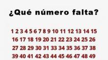 ¿Serías Capaz de Encontrar El Número Que Falta?