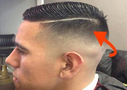 Corte de pelo raya al costado