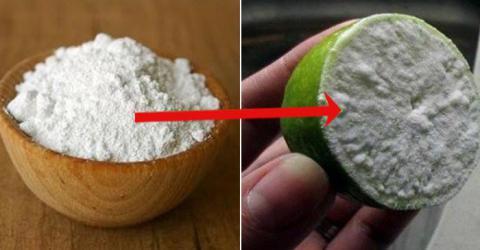 Simplemente moja medio limón con bicarbonato de sodio. La razón? Usted querrá probar este truco después de leer ESTO!