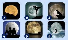 Elige una luna y mira lo que dice de ti