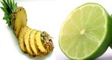 Piña con limón y adiós grasa en el abdomen en solo 7 días